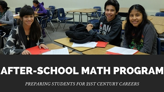 After-School Math Program Banner